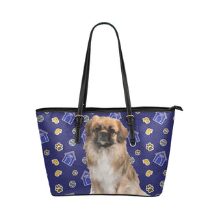 Pekingese Dog Leather Tote Bag/Small - TeeAmazing