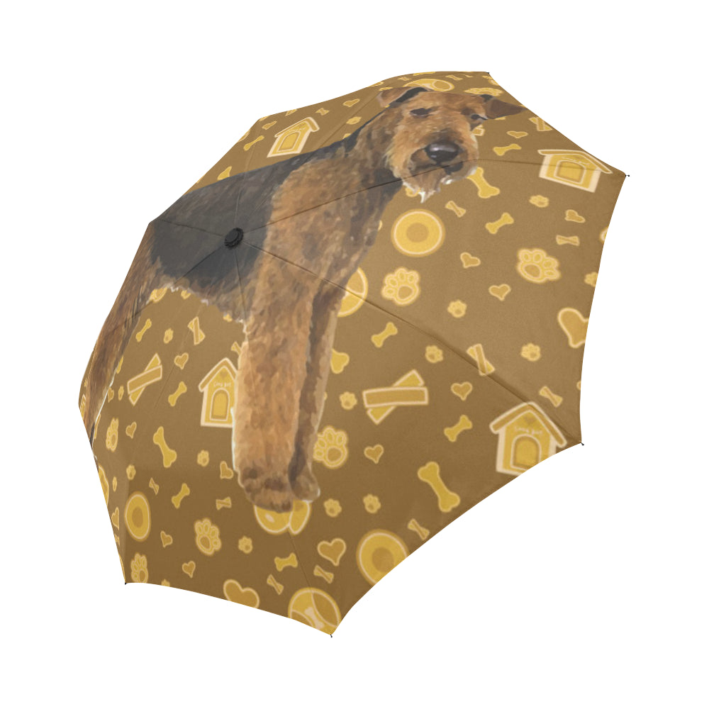 Welsh Terrier Dog Auto-Foldable Umbrella - TeeAmazing