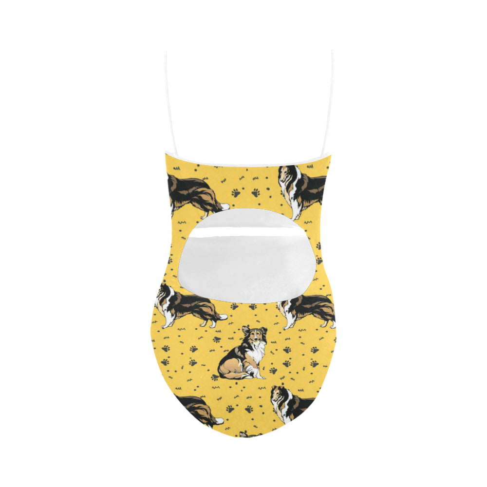 Collie Strap Swimsuit - TeeAmazing