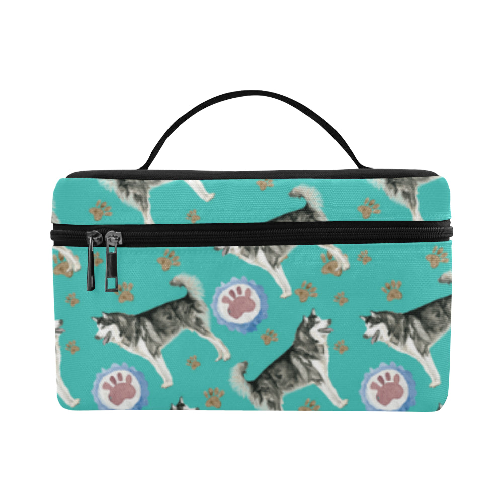 Alaskan Malamute Water Colour Pattern No.1 Cosmetic Bag/Large - TeeAmazing