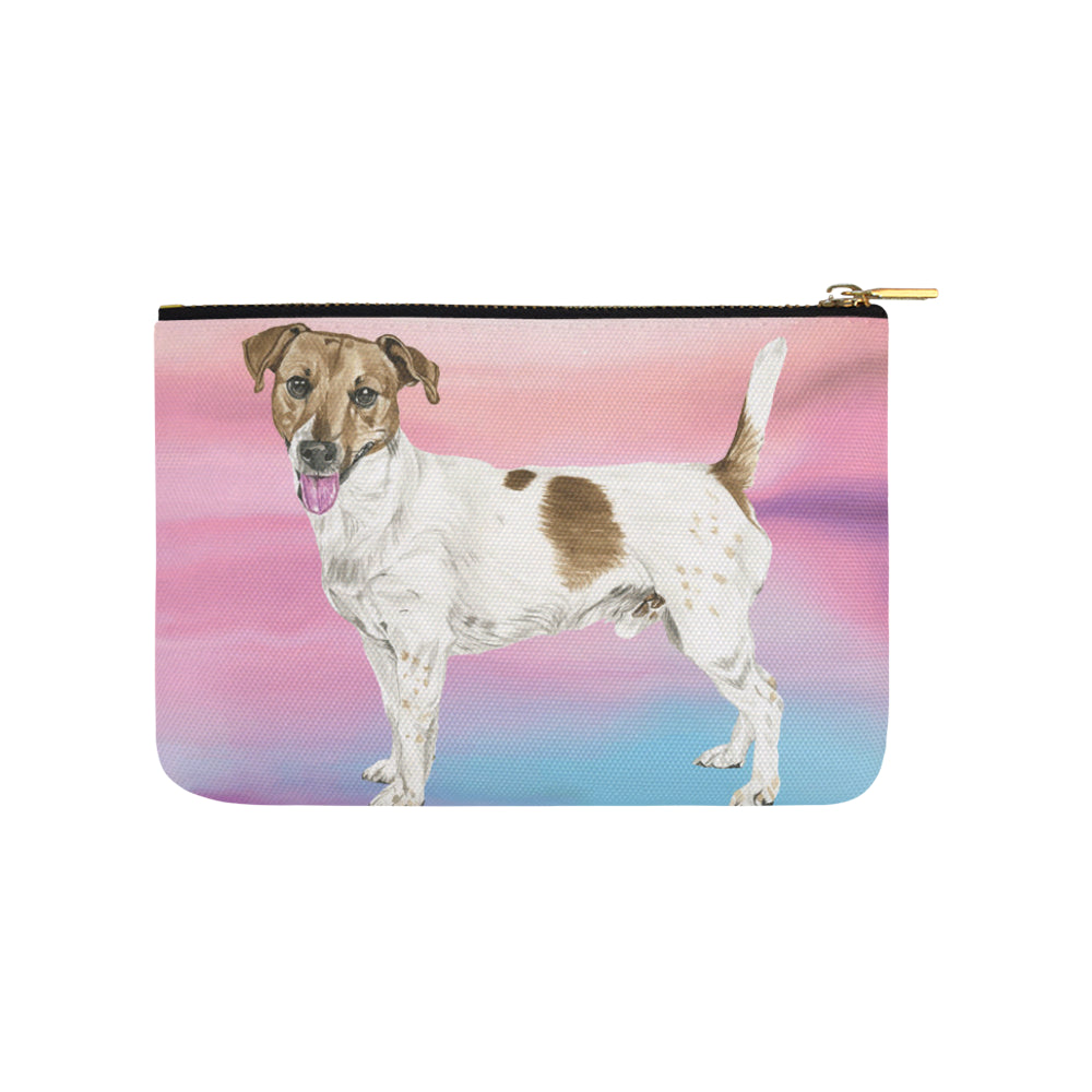 Jack Russell Terrier Water Colour No.1 Carry-All Pouch 9.5x6 - TeeAmazing