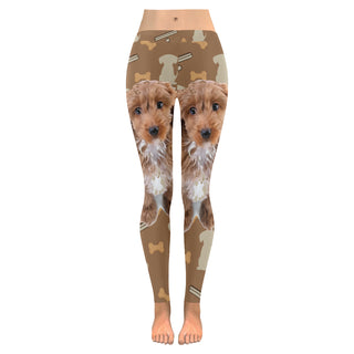Cockapoo Dog Low Rise Leggings (Invisible Stitch) (Model L05) - TeeAmazing