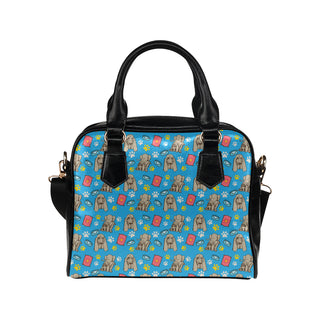 Bloodhound Pattern Shoulder Handbag - TeeAmazing