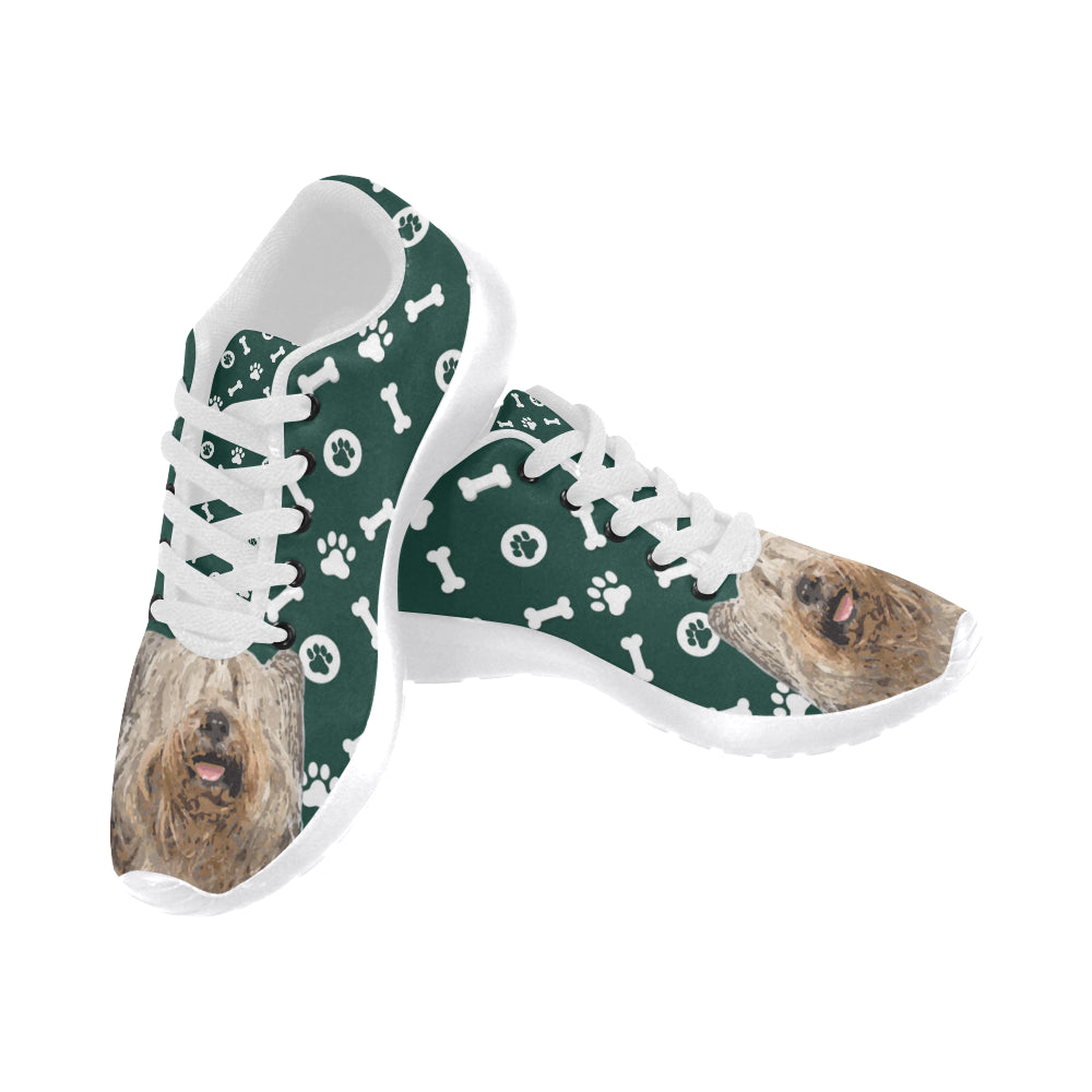 Skye Terrier White Sneakers Size 13-15 for Men - TeeAmazing