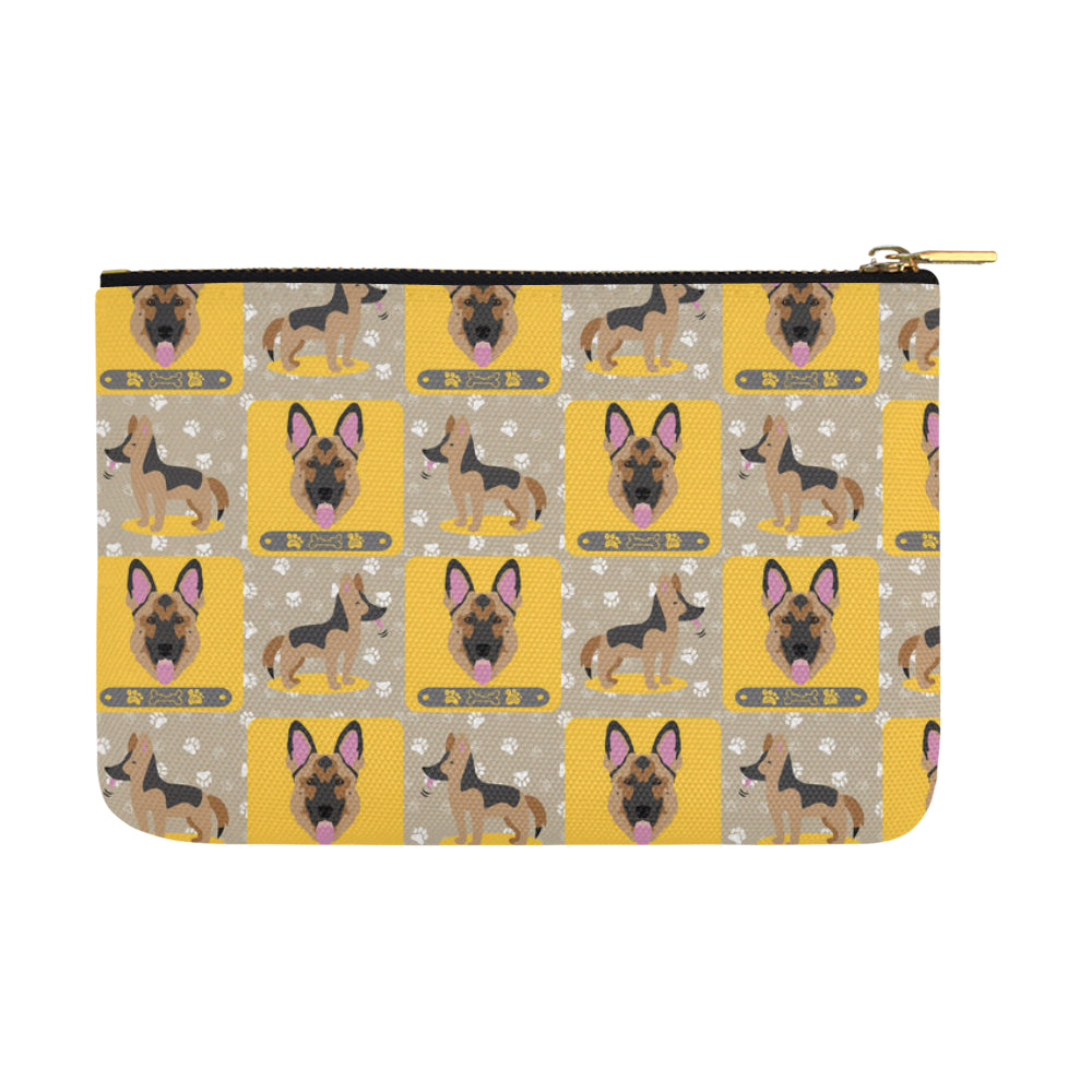German Shepherd Pattern Carry-All Pouch 12.5x8.5 - TeeAmazing