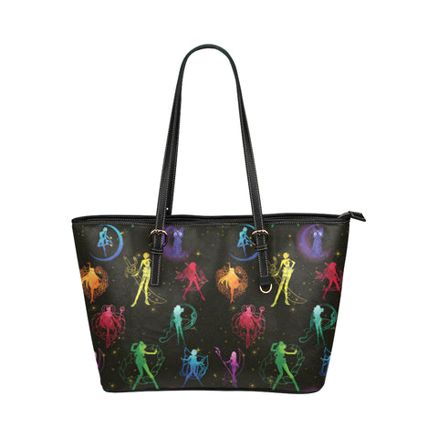 All Sailor Soldiers Leather Tote Bag/Small - TeeAmazing