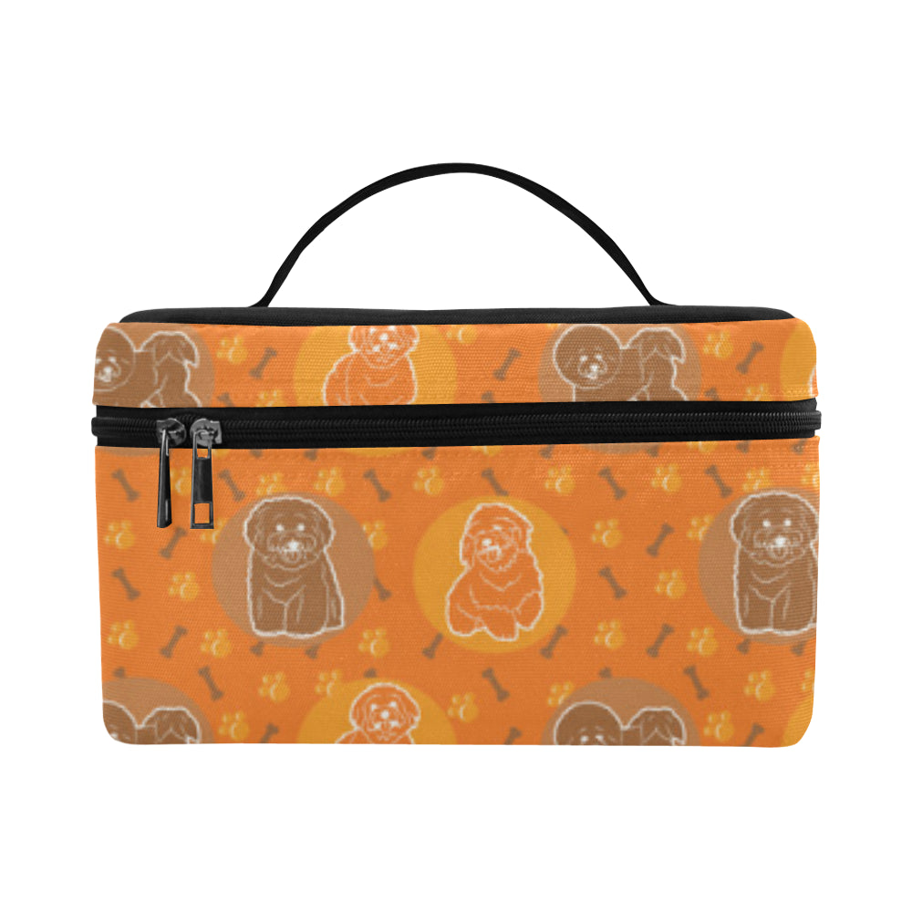 Bichon Frise Pattern Cosmetic Bag/Large - TeeAmazing