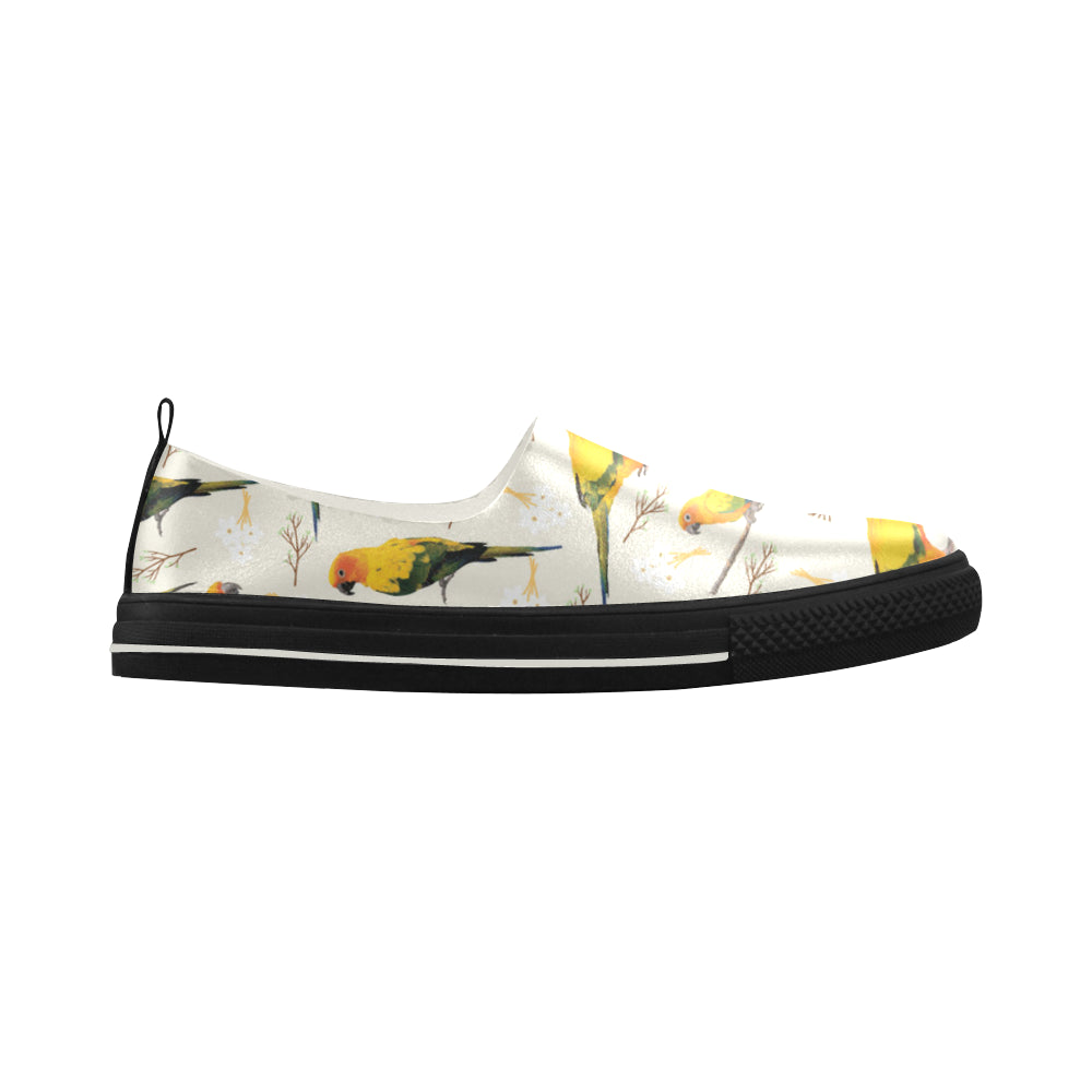 Conures Apus Slip-on Microfiber Women's Shoes - TeeAmazing