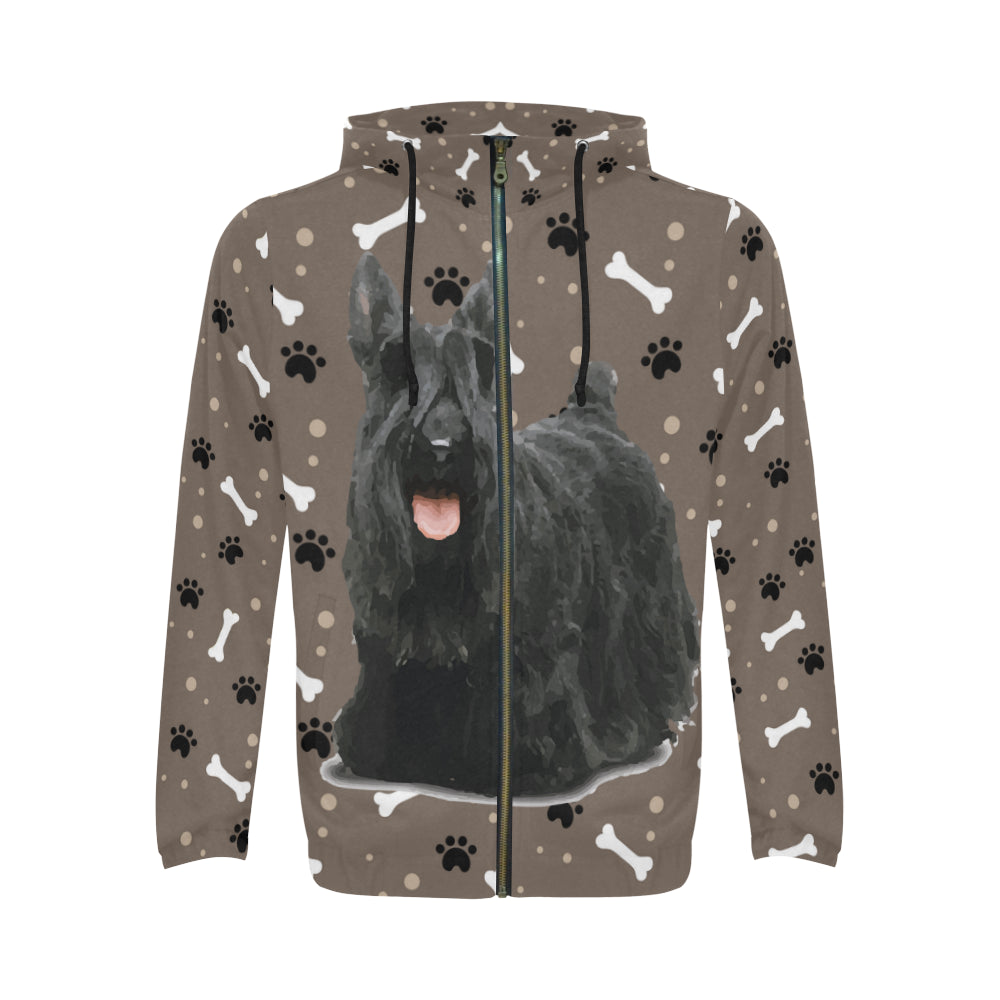 Scottish Terrier V3 All Over Print Full Zip Hoodie for Men - TeeAmazing