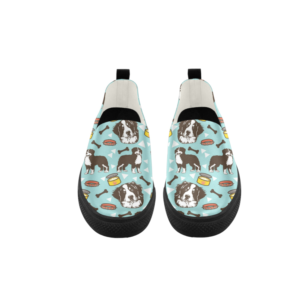 Bernese Mountain Pattern Apus Slip-on Microfiber Women's Shoes - TeeAmazing