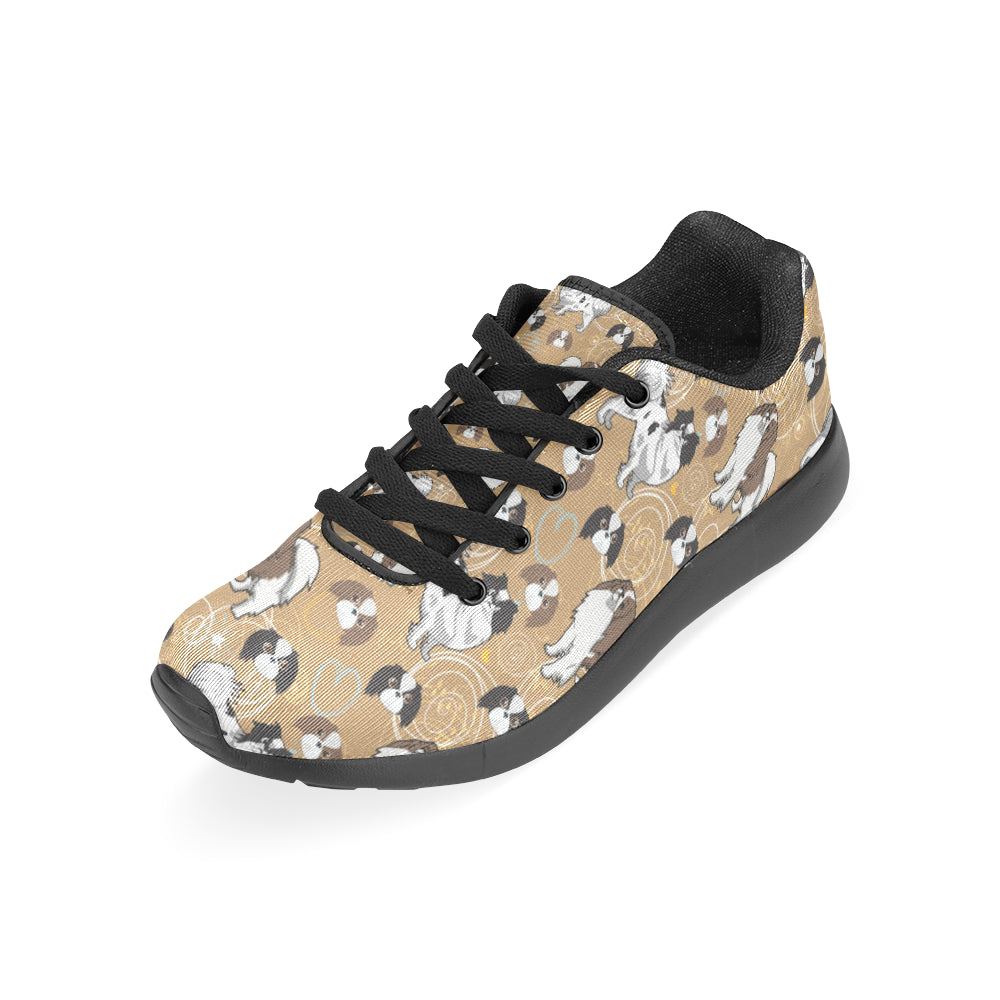 Japanese Chin Black Sneakers for Women - TeeAmazing