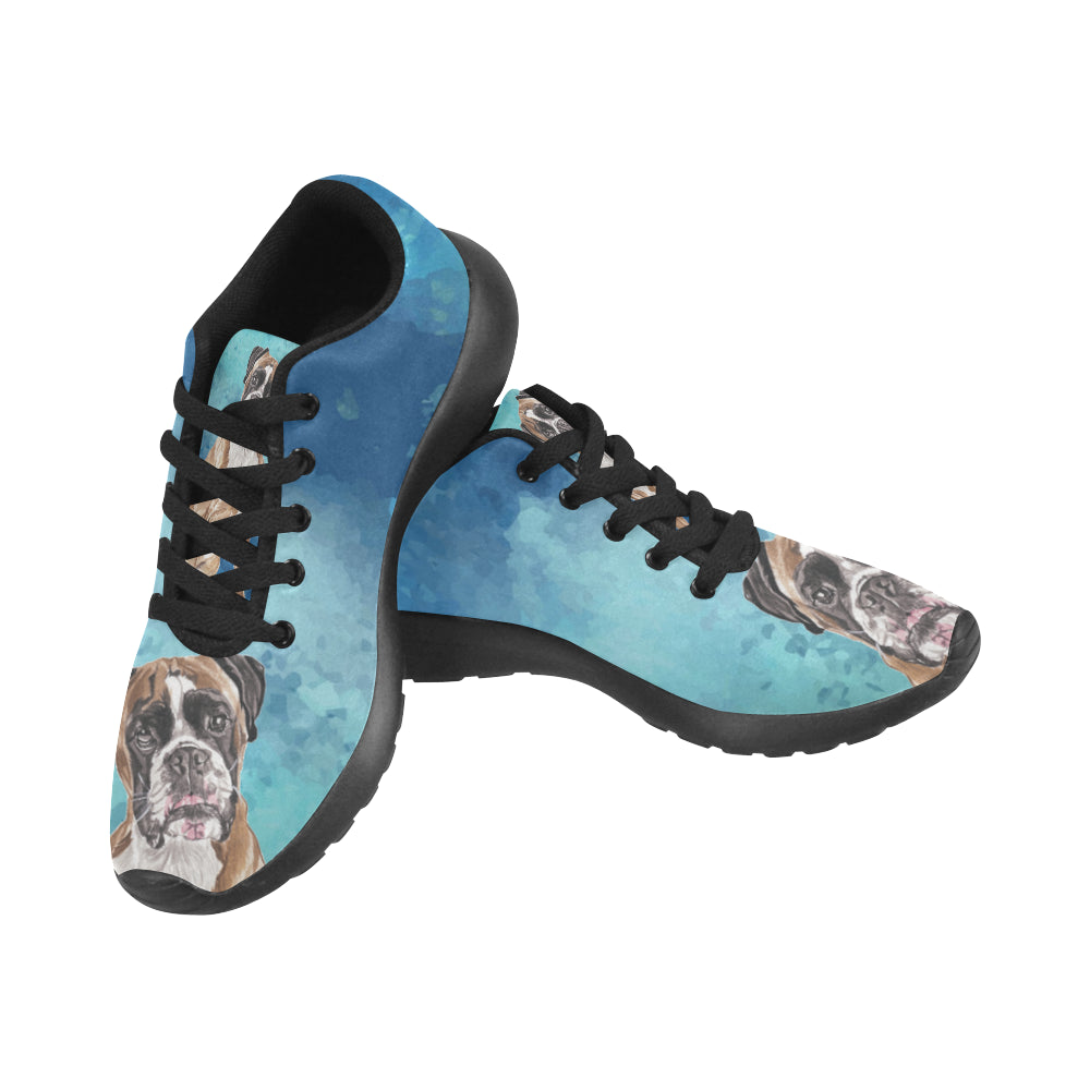 Boxer Water Colour Black Sneakers for Men - TeeAmazing