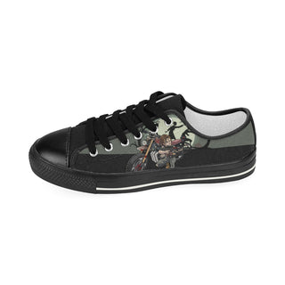 Daryl Dixon ฺBlack Women's Classic Canvas Shoes (Model 018) - TeeAmazing