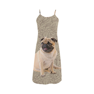 Pug Lover Alcestis Slip Dress - TeeAmazing