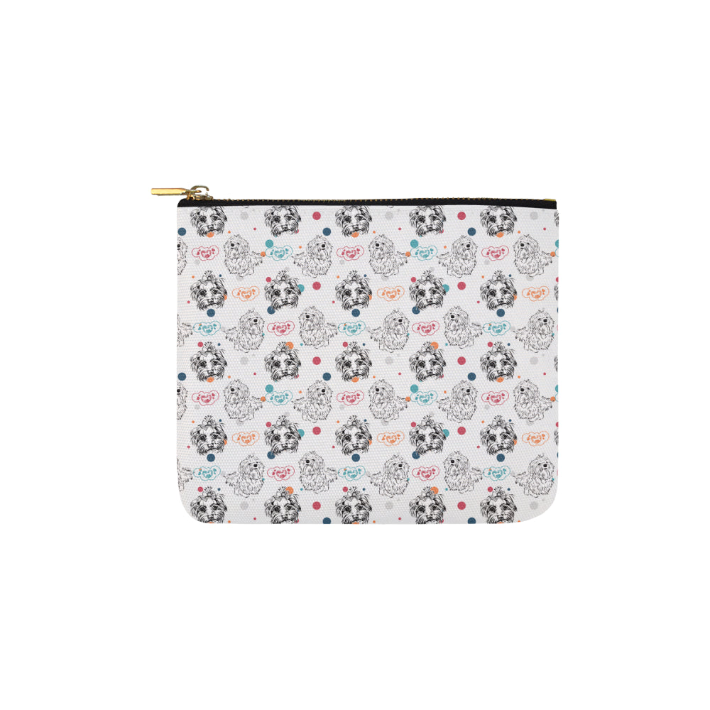 Maltese Pattern Carry-All Pouch 6x5 - TeeAmazing