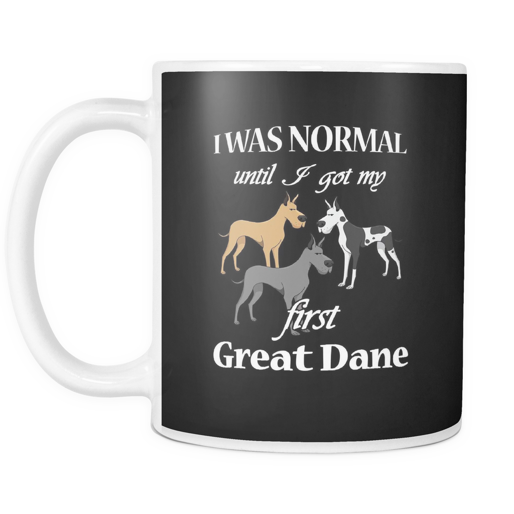 First Great Dane Dog Mugs & Coffee Cups - Great Dane Coffee Mugs - TeeAmazing