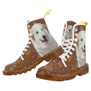 Great Pyrenees Dog White Boots For Women - TeeAmazing