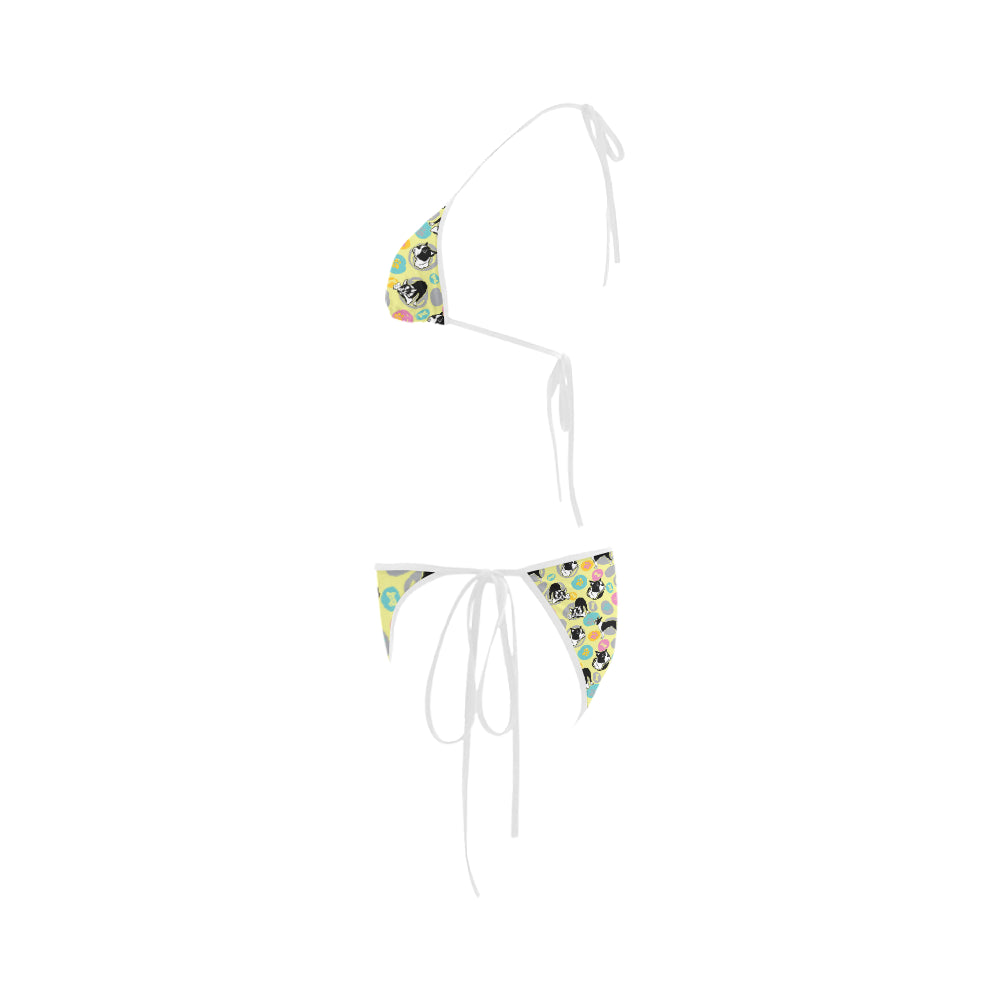Boston Terrier Pattern Custom Bikini Swimsuit - TeeAmazing