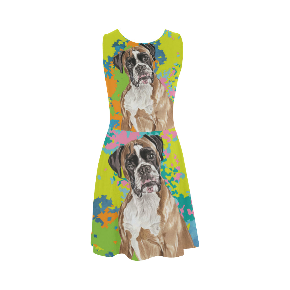 Boxer Water Colour No.2 Atalanta Sundress - TeeAmazing