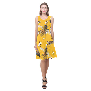 Bee Lover Sleeveless Splicing Shift Dress - TeeAmazing