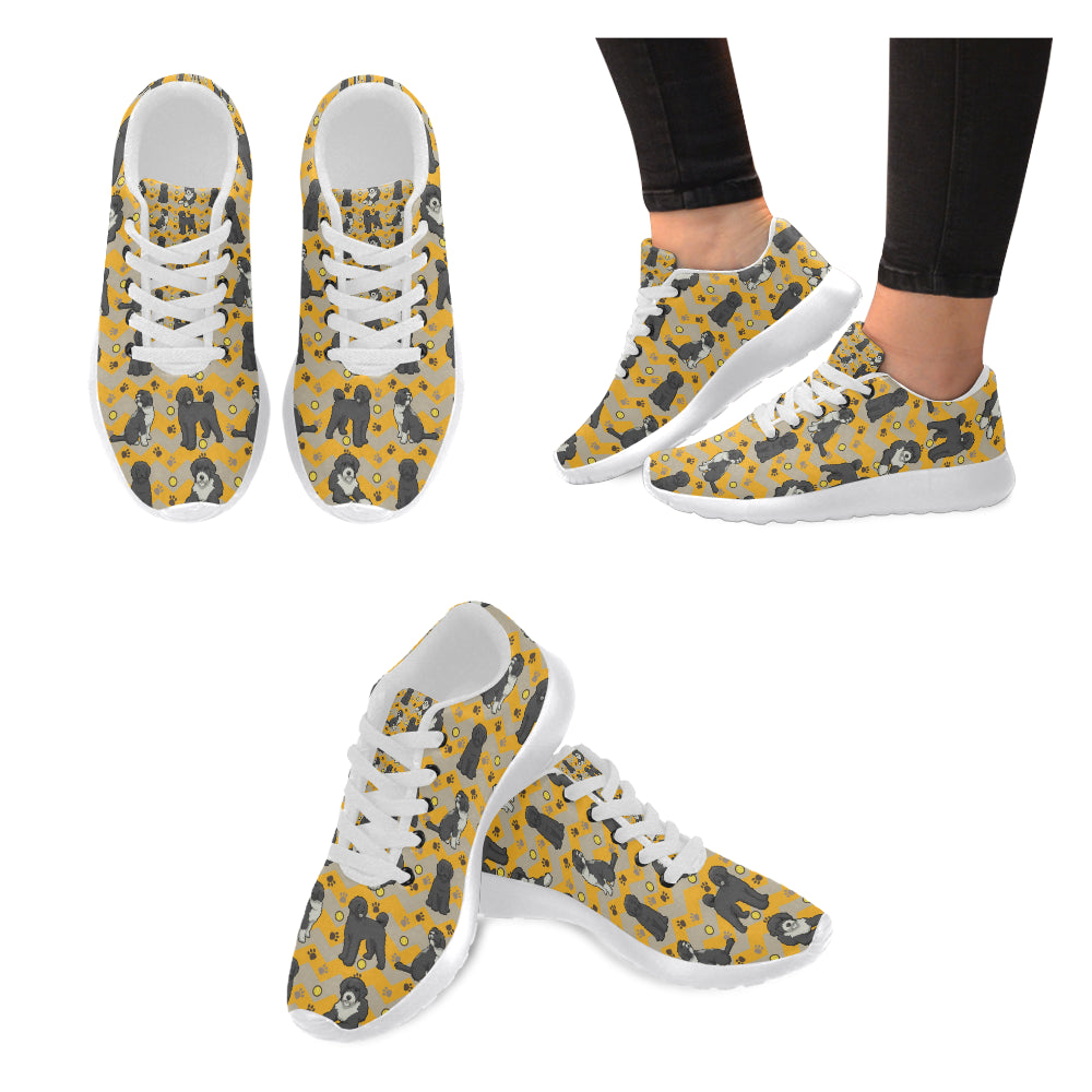 Portuguese water dog White Sneakers for Women - TeeAmazing