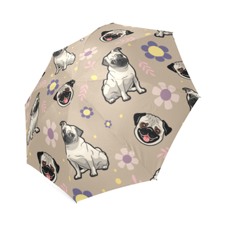 Pug Flower Foldable Umbrella - TeeAmazing