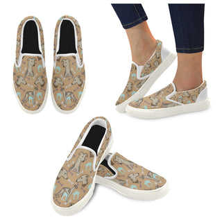 Whippet White Women's Slip-on Canvas Shoes - TeeAmazing