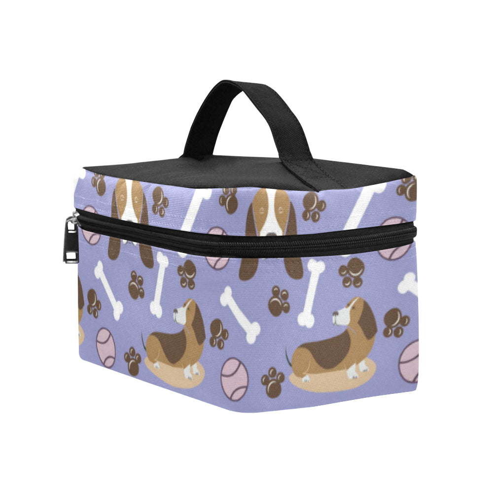Basset Hound Pattern Cosmetic Bag/Large - TeeAmazing