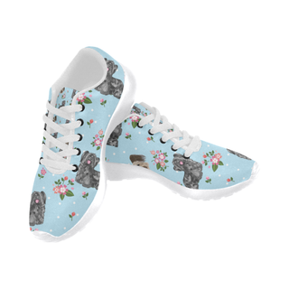 Skye Terrier Flower White Sneakers for Men - TeeAmazing