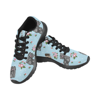 Skye Terrier Flower Black Sneakers for Men - TeeAmazing