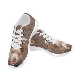 Australian Kelpie Dog White Sneakers for Men - TeeAmazing