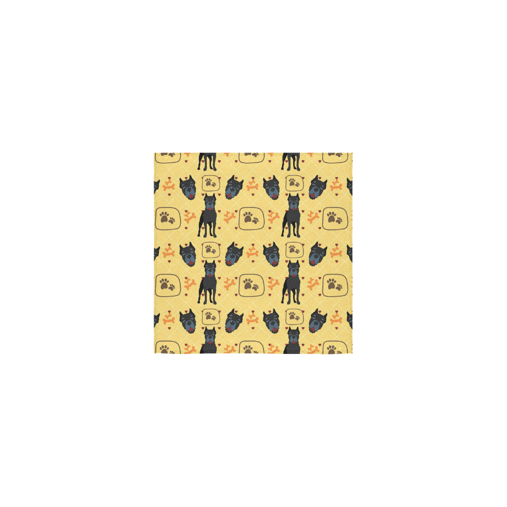 Cane Corso Pattern Square Towel 13x13 - TeeAmazing