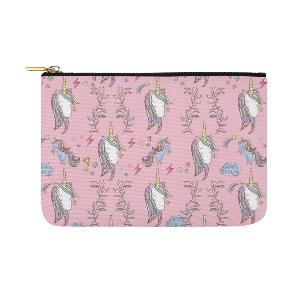 Unicorn Pattern V2 Carry-All Pouch 12.5x8.5 - TeeAmazing