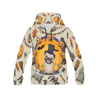 Pug Halloween All Over Print Hoodie for Women (USA Size) (Model H13) - TeeAmazing