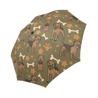 Border Terrier Pattern Auto-Foldable Umbrella - TeeAmazing