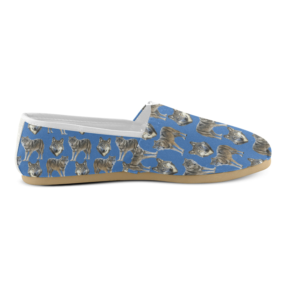 Wolf Pattern Women's Casual Shoes - TeeAmazing