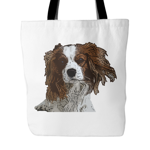 Cavalier King Charles Spaniel Dog Tote Bags - Cavalier King Charles Spaniel Bags - TeeAmazing - 1
