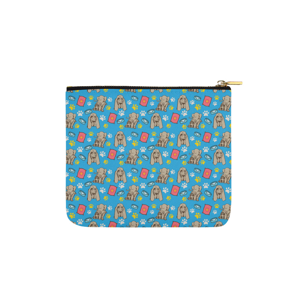 Bloodhound Pattern Carry-All Pouch 6x5 - TeeAmazing