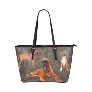 Boxer Lover Leather Tote Bag/Small - TeeAmazing