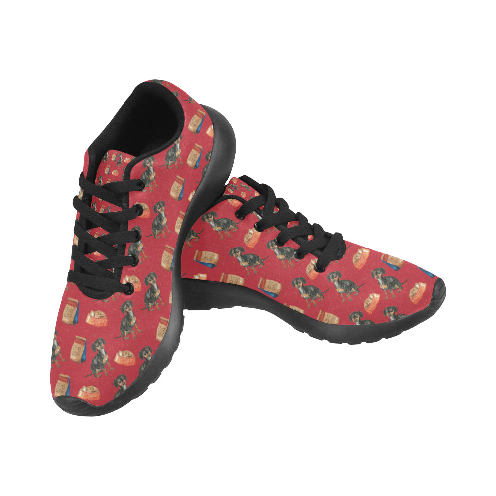 Dachshund Water Colour Pattern No.2 Black Sneakers Size 13-15 for Men - TeeAmazing