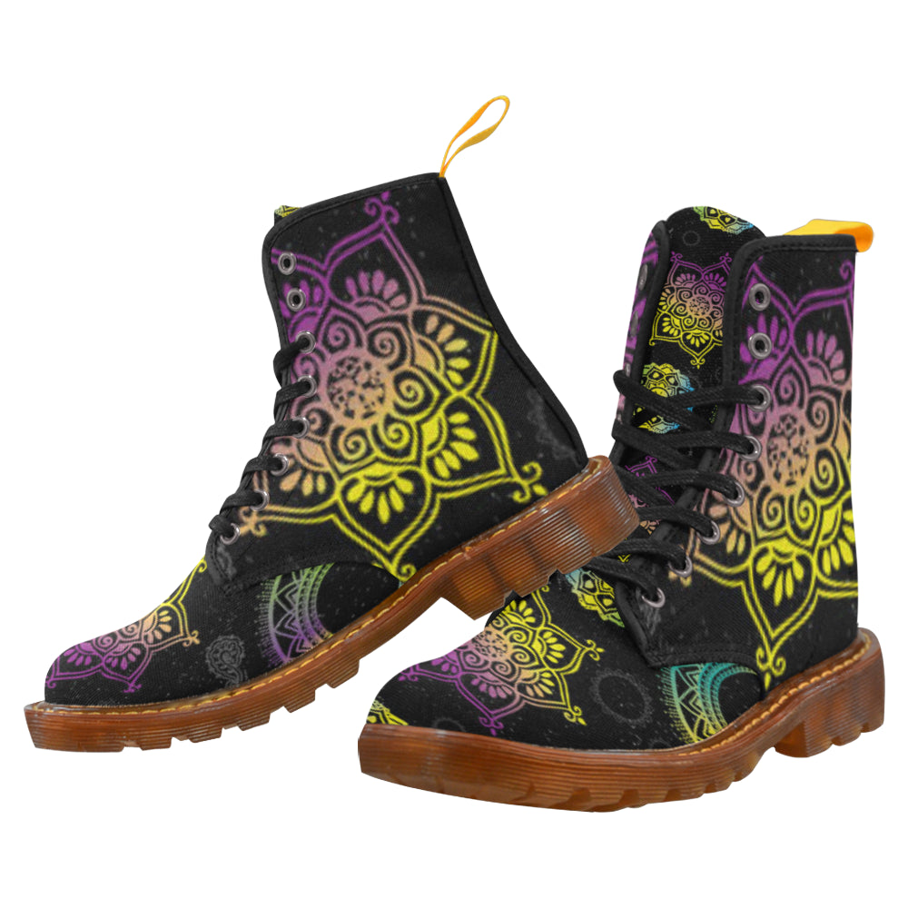 Chakra Black Boots For Women - TeeAmazing