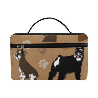 Miniature Schnauzer Pattern Cosmetic Bag/Large - TeeAmazing