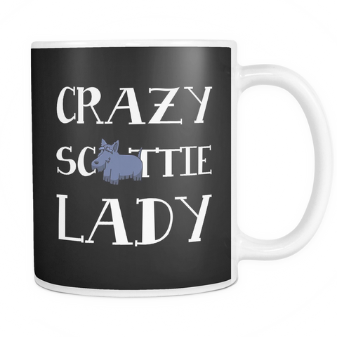 Crazy Scottie Lady Dog Mugs & Coffee Cups - Scottish Terrier Coffee Mugs - TeeAmazing - 1