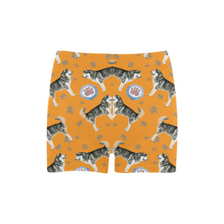 Alaskan Malamute Water Colour Pattern No.2 Briseis Skinny Shorts - TeeAmazing