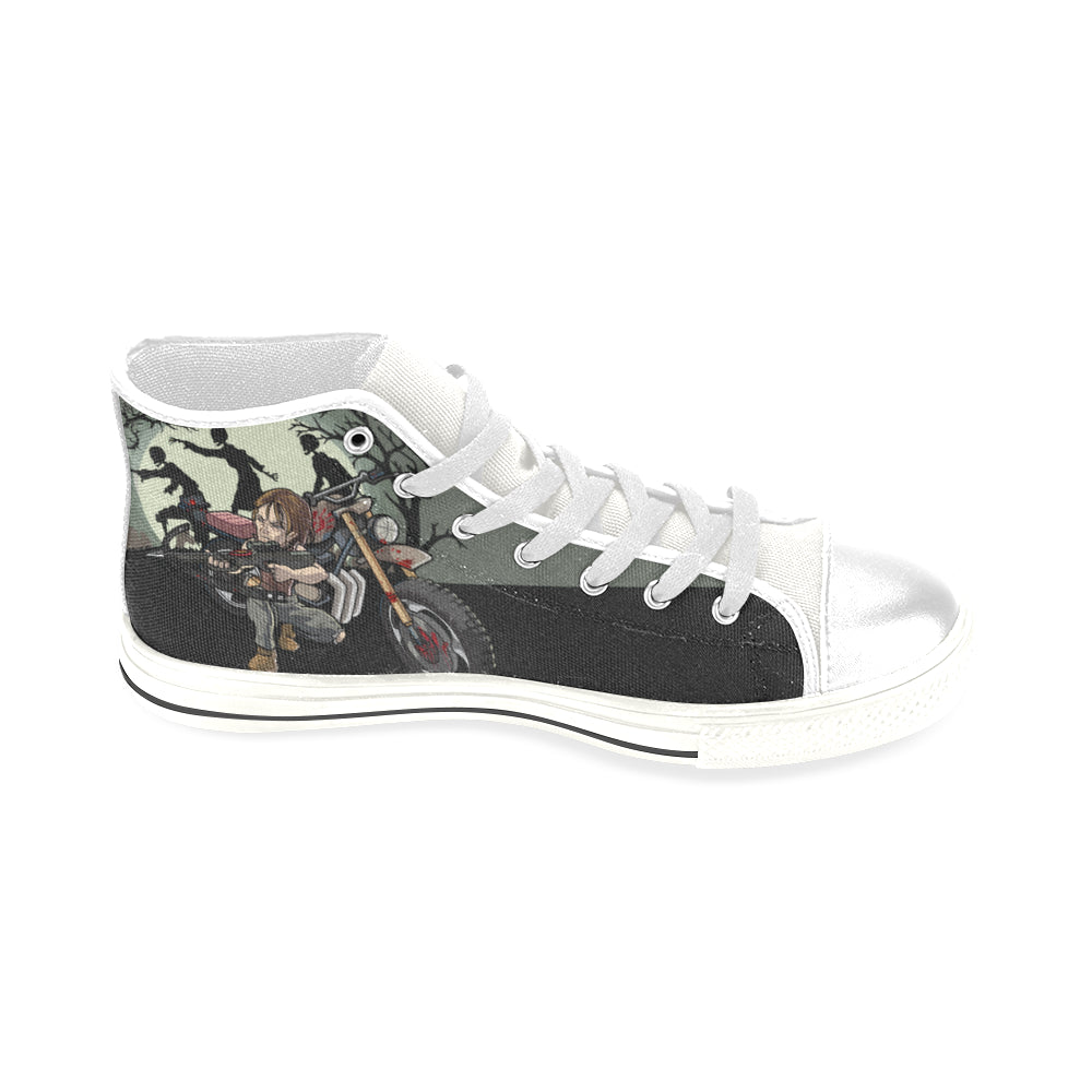 Daryl Dixon White Men's Classic High Top Canvas Shoes - TeeAmazing