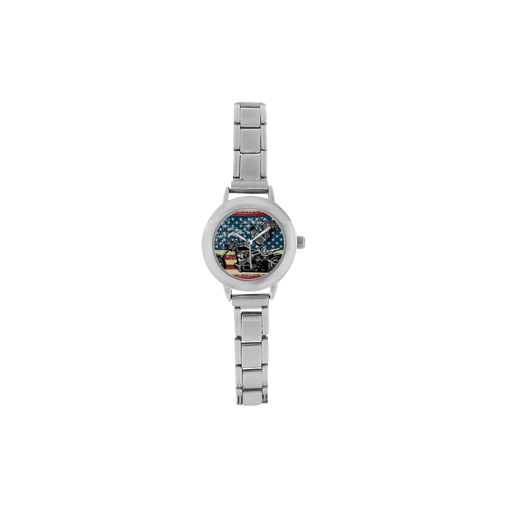 FREE Skeleton Biker Women's Italian Charm Watch - TeeAmazing