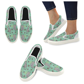 Domestic Shorthair White Women's Slip-on Canvas Shoes - TeeAmazing