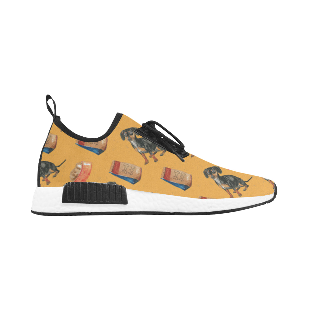Dachshund Water Colour Pattern No.1 Men's Draco Running Shoes - TeeAmazing