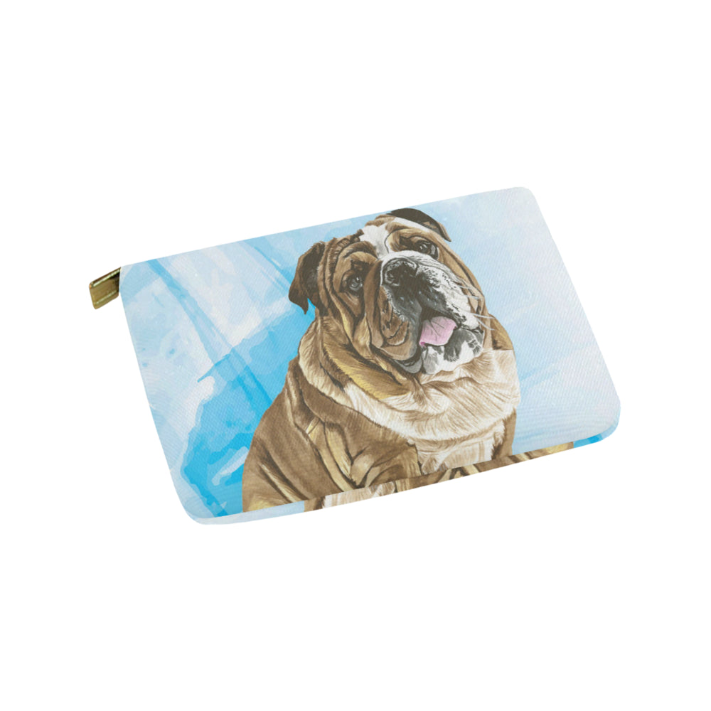 English Bulldog Water Colour No.1 Carry-All Pouch 9.5x6 - TeeAmazing