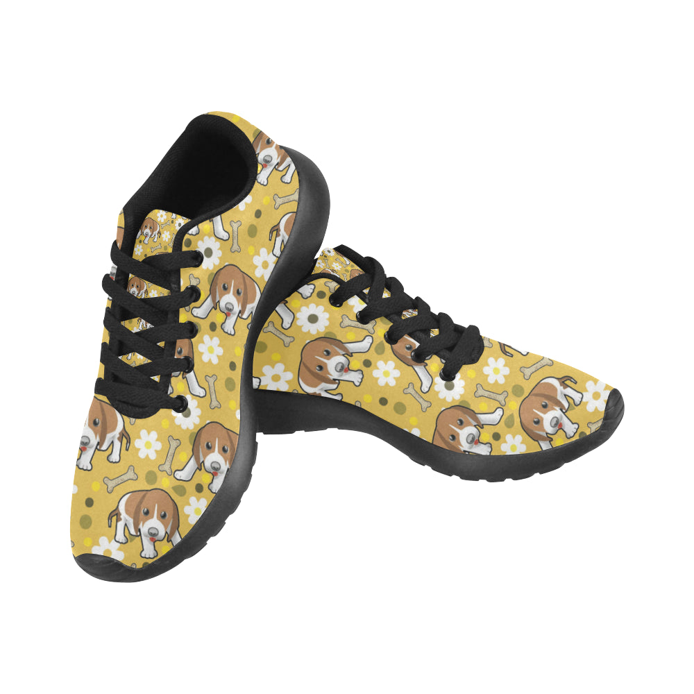 Beagle Black Sneakers Size 13-15 for Men - TeeAmazing